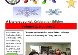 Adult Literacy Students Literary Journal!